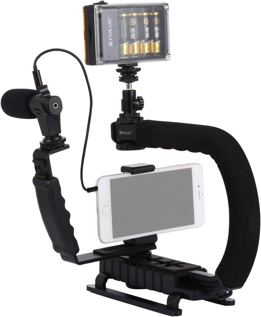 Camera Accessories U//C Shape Portable Handheld DV Bracket Stabilizer Video Shotgun Microphone Kit with Cold Shoe Tripod Head for All SLR Cameras and Home DV Camera Professional Vi LED Studio Light