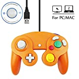 Mekela 5.8 feet Classic USB wired NGC Controller Gamepad resembles gamecube for Windows PC MAC (USB Orange) Review