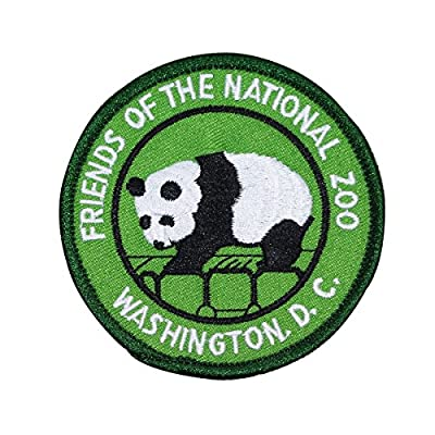 Friends of The National Zoo Patch Washington Panda Embroidered Iron On Applique
