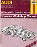 UH428 Haynes Audi 5000 Repair Manual 1977 Used