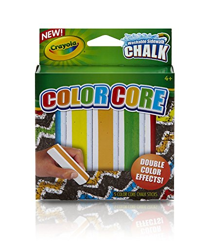 Crayola Special Effects Sidewalk Chalk   Color Core  2 Pack