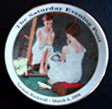 ''The Girl At The Mirror'' Mini Plate by Norman Rockwell March 6, 1954