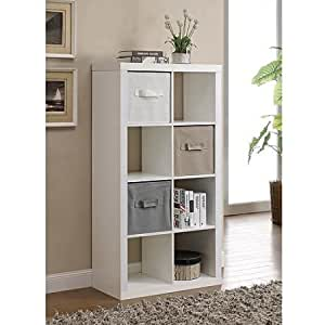 Better Homes and Gardens Furniture 8-Cube Room Organizer (White)