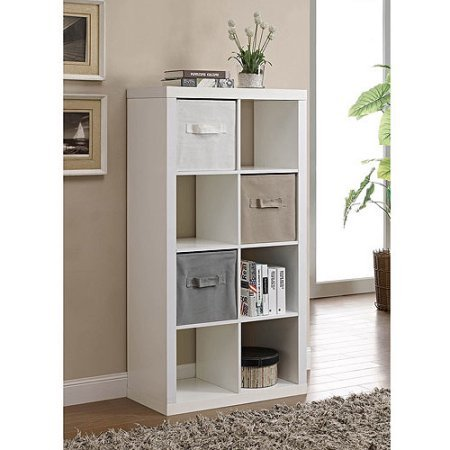 Better Homes and Gardens Furniture 8-Cube Room Organizer (White) (8-Cube, White) (Wood Storage Unit)