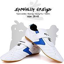 Taekwondo Shoes Men Women Kids Martial Art Shoes Karate Kung Fu Tai Chi Shoes Comfortable Lightweight Taekwondo Training Sports Shoes - Blue