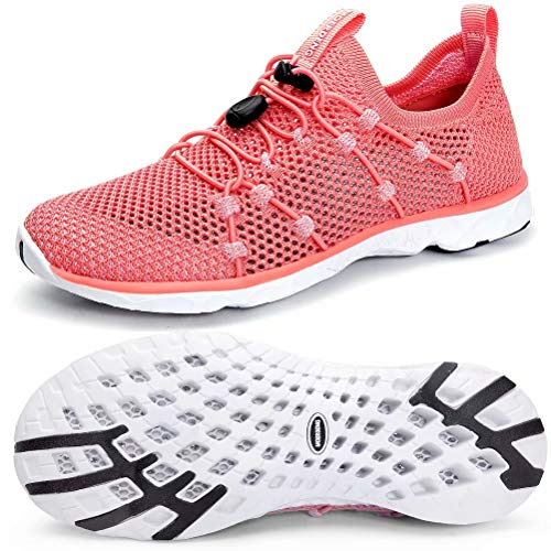 MOERDENG Women's Quick Drying Water Shoes Lightweight Aqua Shoes for Sports Outdoor Beach Pool Exercise - Mesh Water Shoes