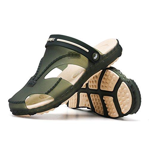 mujer Men's mulas Gaatpot Chancletas Zuecos 44 Tamaño Estilo para Sandalias Verano de verde Unisex y deportivas 36 'Zapatillas transpirables playa de par xpnYSn