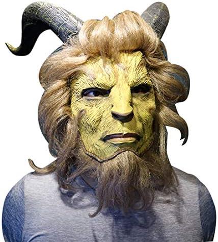 新登場 美女と野獣 (アニメ映画) 野獣(ビースト) 王子様 ハロウィン衣装 風 コスプレ マスク 仮面 野獣のマスク (マスク)