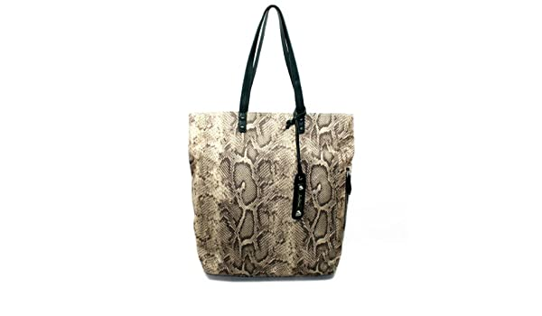e740a19aeac4 Amazon.com  Sam Adelman Amelie Signature Natural Python Tote  Shoes