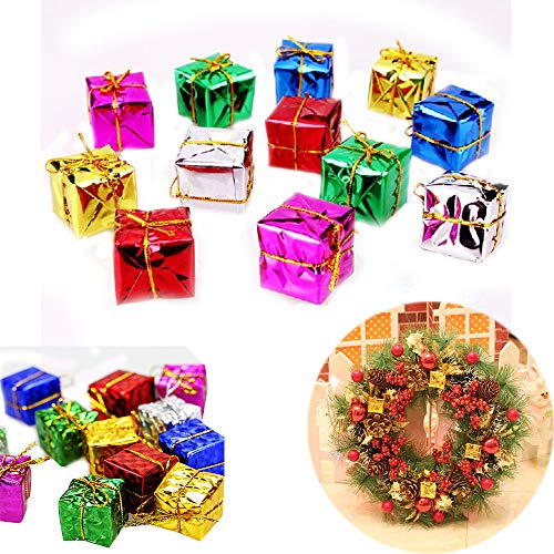Unetox Christmas Tree Decor Mini Christmas Ornaments Foam Gift Box Xmas Tree Hanging Party Nice Decor 24pcs
