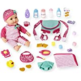 Baby Doll with Carrier Playset Feeding and Care Accessories Pink Outfit by You & Me