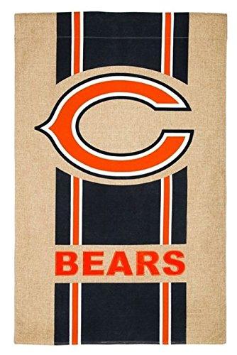 NFL Chicago Bears Burlap House Flag, 29