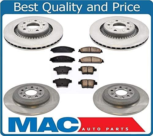 Drill Slotted Brake Rotors 2 Ceramic Pad Fits 05-07 Ford Five Hundred Rear 4