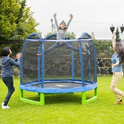 Sportspower MSC-84MFT-WM Bounce Pro 7' My First Trampoline Hexagon for Kids
