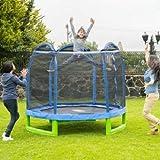 Sportspower MSC-84MFT-WM Bounce Pro 7' My First Trampoline Hexagon or Kids
