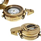 New Magnetic Military Brass Compass Antique Nautical Handmade Fully Functional Sailor Article New Design Handicraft Maritime Ship Navigate Item