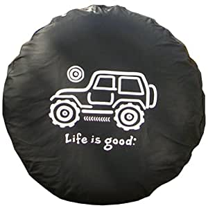 life is good tire cover native offroad black 28 automotive. Black Bedroom Furniture Sets. Home Design Ideas