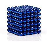 MagneBalls - 222 pcs 5MM Magnetic Ball Set for Office Stress Relief  Desk Sculpture Toy Perfect for Crafts,Jewelry and Education Magnetized Fidget Cube Provides Relief for Anxiety,ADHD,Autism, Boredom