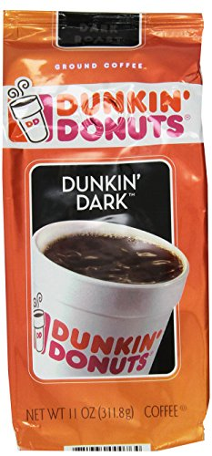 Dunkin' Donuts Dunkin' Dark Dark Roast Ground Coffee 11 OZ (Pack of 12) by Dunkin' Donuts