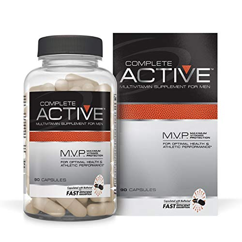 Complete Nutrition Complete Active Multivitamin, Mens Daily Multivitamin, Creatine, Beta Alanine, 90 Capsules