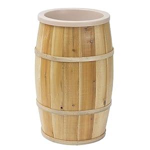 Natural Wooden Lined Bulk Food Barrel - 18
