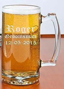 25 oz. Beer Mug - Personalized Beer Mug by Becis Gifts