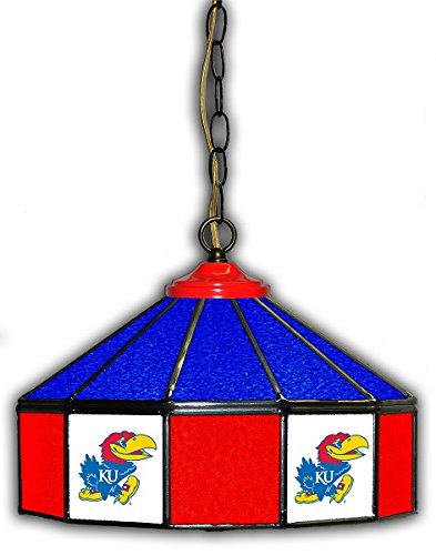 Official Licensed NCAA UNIVERSITY OF KANSAS 14'' Glass Pub Lamp by Imperial International by Imperial