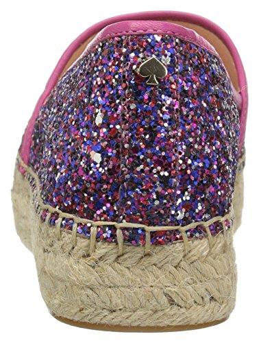 Kate Spade New York Vrouwen Linds Te Espadrille Wig Sandaal Paars / Multi-glitter