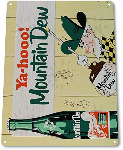 (TIN Sign Yahoo Mountain Dew Metal Decor Cottage Candy Shop Store Kitchen A193 Tin Sign 7.8inch11.8inch)