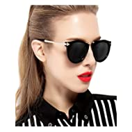 Vintage Fashion Round Arrow Style Wayfarer Polarized Sunglasses for Women
