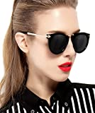 ATTCL Women's Vintage Fashion Round Arrow Style Wayfarer Polarized Sunglasses for Women 11189 Black