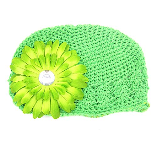 Winter Warm Knitted Baby Hat for Girls Cotton Lined Infant Toddler Girls Hat Autumn Cute Classic Girls(Green,free1.4)