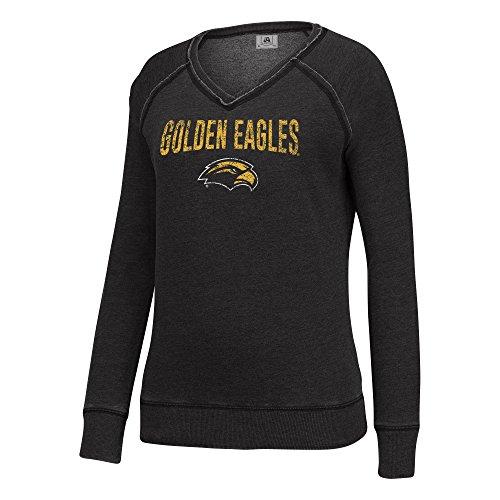 (J America NCAA Southern Mississippi Golden Eagles Women's Achieve Fleece, XX-Large, Black)