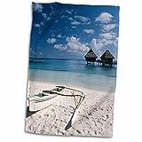 3dRose Danita Delimont - Beaches - French Polynesia, Bora Bora, Bungalows from beach Motu Toopua. - 12x18 Hand Towel (twl_207117_1) offers