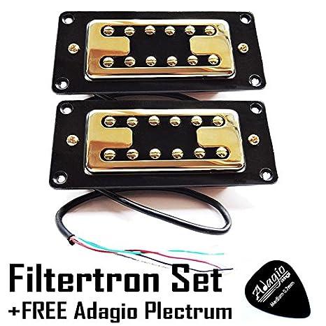 Artec filtertron oro pastilla Juego de 2 pastillas (cuello y puente) RRP £ 59.99 + libre Adagio púa: Amazon.es: Instrumentos musicales