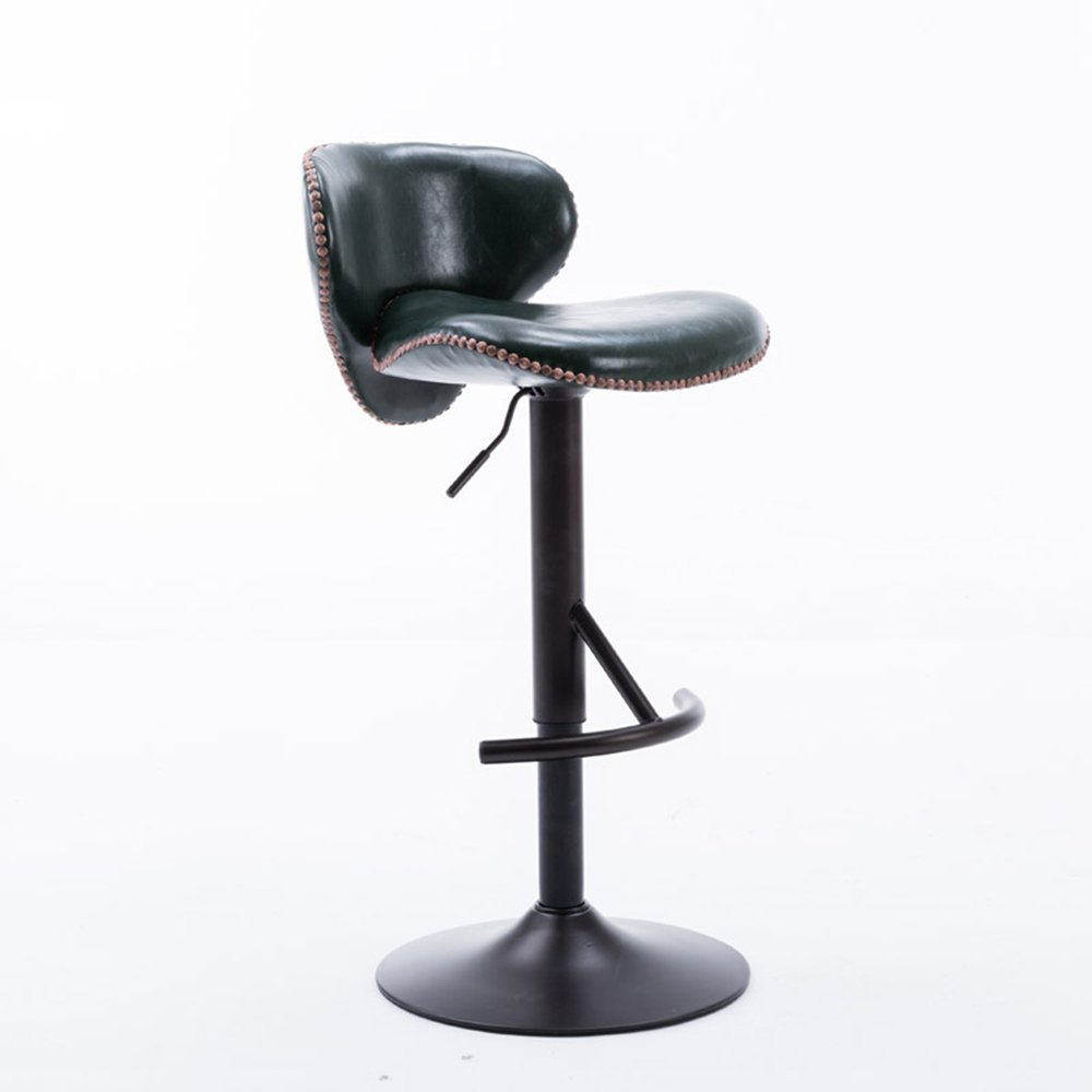 XIAOYAN PUシート表面+木製の椅子本体 現代 フロントベンチ 北欧スタイル ダイニングチェア 家庭用ハイスツール おしゃれな オフィスチェア レトロスタイル バースツール 360°回転 自由に持ち上げることができる ブラック ホワイト ダークグリーン ブラウン (色 : 濃い緑色) B07DP9GR1X 濃い緑色 濃い緑色