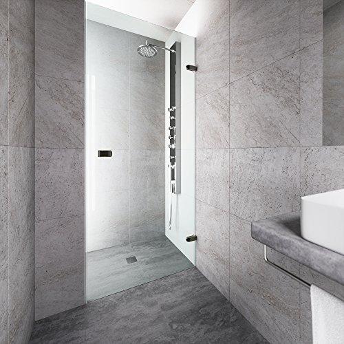 Vigo Tempo 28 To 285 In Adjustable Frameless Shower Door With