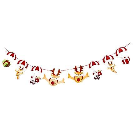 Amazon.com  LAMEIDA Christmas Flags Cartoon Christmas Banner ... b22cb1e991ea