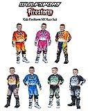 WULFSPORT ATTACK MOTORBIKE KIDS RACE SUIT New 2017 Motocross Quad Enduro ATV MX Pit Sport Junior Pant Shirt Kit (ORANGE, 8 - 10 years)