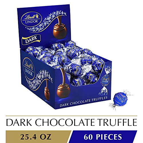 - Lindt LINDOR Dark Chocolate Truffles, 25.4 oz, 60 Count