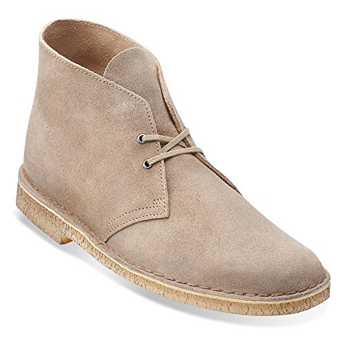 Clarks Mens Desert Boot Taupe Distressed Boots M,7 D US