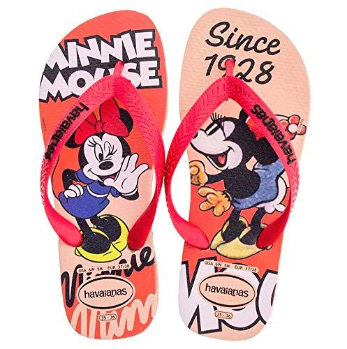 Havaianas Women's Disney Stylish Flip Flop Sandal,Rose Nude, 35/36 BR(5-6 M US Women's)