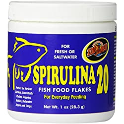 Zoo Med Laboratories AZMAFS1 Aquatrol Spirulina 20 Flake, 1-Ounce