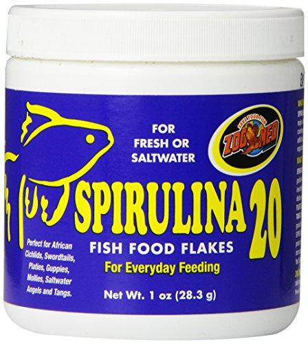 Zoo Med Laboratories AZMAFS1 Aquatrol Spirulina 20 Flake, 1-Ounce