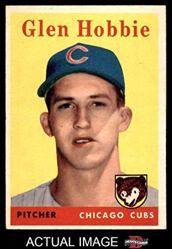 1958 Topps Baseball 467 Glen Hobbie Chicago Cubs Excellent