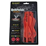 (US) New Archery Products 6-Pack Quickfletch Quickspin Vanes (Orange)