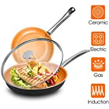 Frying Pan Sets Nonstick with Lid - 10 & 12-inch Ultra Nonstick Frying...
