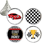 Race Car Party Favor Stickers, 324 Count