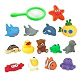 Set of 15 Ocean Animals Water Squirties Fun Floating Bath Squirters for Kids