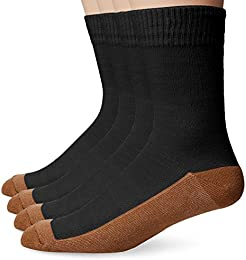 Men's 4 Pack Solid Dress Crew Socks